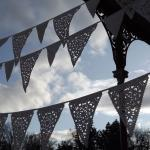 Cream Wedding banner, ivory..